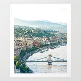 Hills of Budapest Art Print