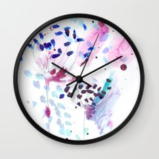 flowery Wall Clock