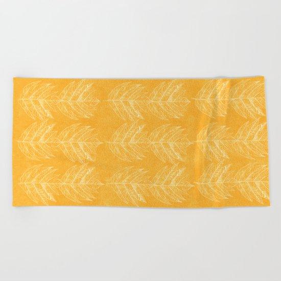 leaf 2 Beach Towel