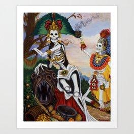 """Aztec Ritual"" Art Print"