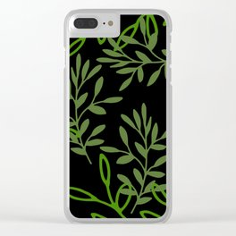 Leafy Green Clear iPhone Case