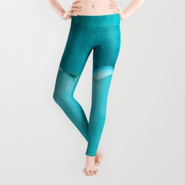 Along the Shores of Clear Bays Leggings