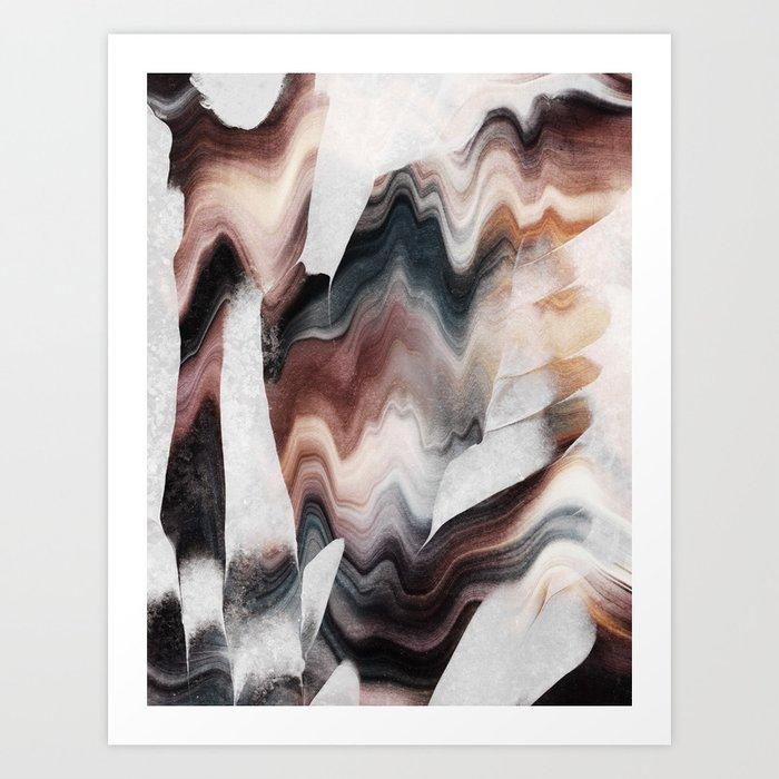 Earthy Flow Art Print