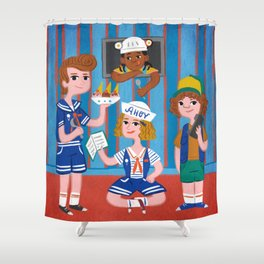 Scoops Troop Team Shower Curtain