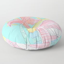 Beach Shack Vibes Floor Pillow