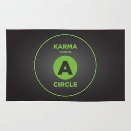 Karma Lives In A Circle Rug
