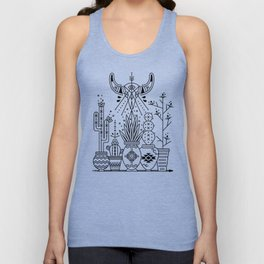 Santa Fe Garden – Black Ink Unisex Tank Top