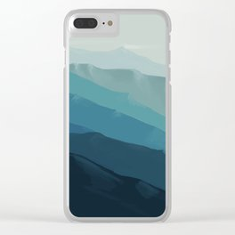 Blue Mountains #1 Clear iPhone Case