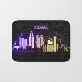 Atlanta skyline Bath Mat