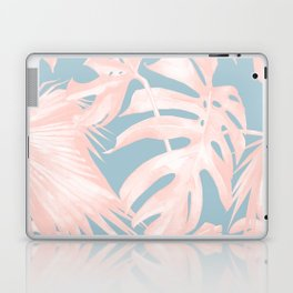 Island Love Millennial Pink on Pale Teal Blue Laptop & iPad Skin