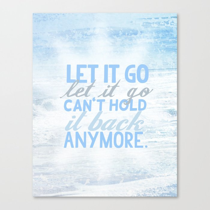frozen, let it go lyrics... Canvas Print by studiomarshallarts ...