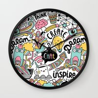 notebook Wall Clocks featuring Everyday by Anna Alekseeva kostolom3000