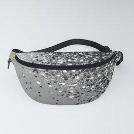 Sparkling Silver Gray Lady Glitter #1 #shiny #decor #art #society6 Fanny Pack