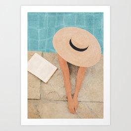On the edge of the Pool II Art Print