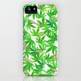 Green Weed iPhone Case