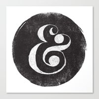 ampersand Canvas Prints featuring AMPERSAND by Matthew Taylor Wilson