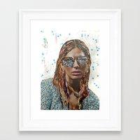 jessica lange Framed Art Prints featuring Jessica by Katy Hirschfeld
