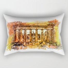 The Acropolis Of Athens Rectangular Pillow
