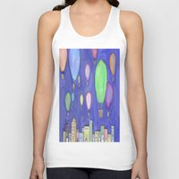 hot air balloons Tank Tops featuring hot air balloons by Kaylabeaisaflea