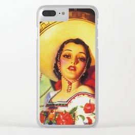 Senorita - Vintage Spain Travel Ad Clear iPhone Case