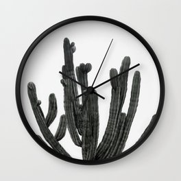 Black and White Cactus Wall Clock