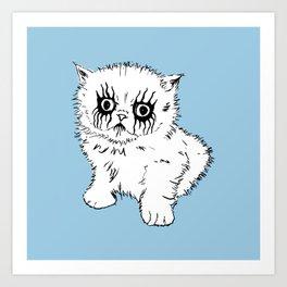 Black Metal Kitty Art Print