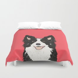 Montana - Border Collie gifts for dog people and dog lovers perfect gifts for a dog person.  Duvet Cover