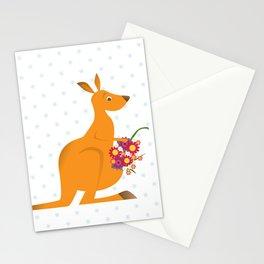 kangaroo misses you Stationery Cards