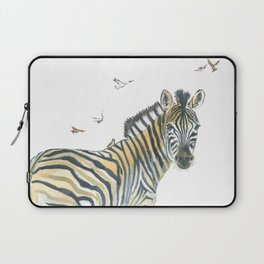 Zebra and Birds Laptop Sleeve