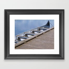 Jumbo Canoe Framed Art Print