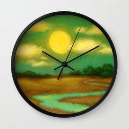 Sunny River Wall Clock