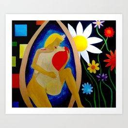 In lovers arms Art Print