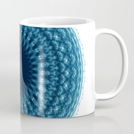 Mandala of Quantum Abundance (blue) Coffee Mug
