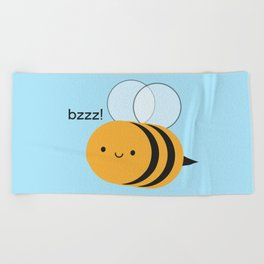 Kawaii Buzzy Bumble Bee Beach Towel