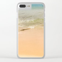 Beach time Clear iPhone Case
