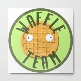 Waffle Team Metal Print