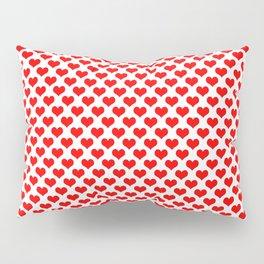 Red Heart Pattern Pillow Sham