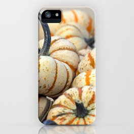 White & Orange Gourds iPhone Case
