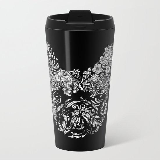 Botanical frenchie Metal Travel Mug