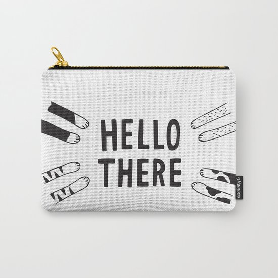 """""""Hello There"""" Cat Paws Carry-All Pouch"""