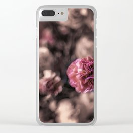 Sweetness mini carnations in pink antiqued look Clear iPhone Case