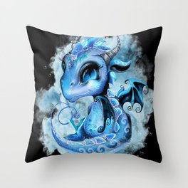 Lil DragonZ - Elements Series - Water Throw Pillow