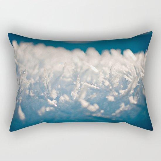 Mountain Snow Macro Rectangular Pillow