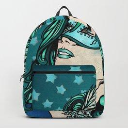 Teal Masquerade Girl Backpack