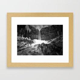 The Black Waterfall Framed Art Print