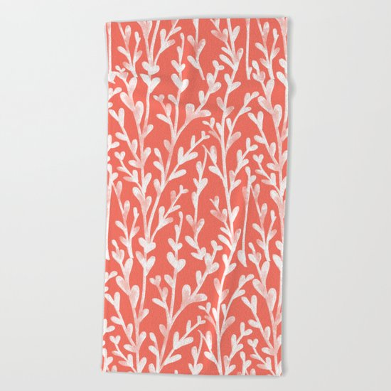 Leaf Pattern Beach Towel