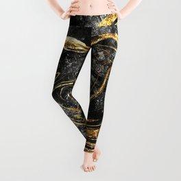 Black & Gold Marble Leggings
