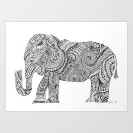 Elephant of Design Art Print