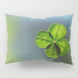 Lucky Four Leaf Clover Pillow Sham