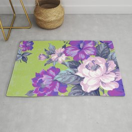 Saturated Vintage Floral Rug